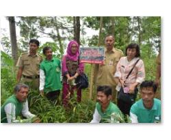 Bersama Tim Penilai dari Provinsi di lokasi tanaman jahe