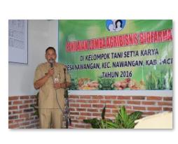 Sambutan Kepala Dinas Tanaman Pangan dan Peternakan Kabupaten Pacitan